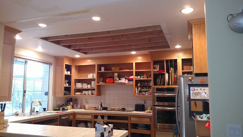 Kitchen remodel with new lighting